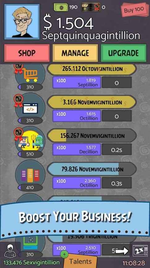 Screenshot 1 of Geeks vs Gangsters the Idle Game