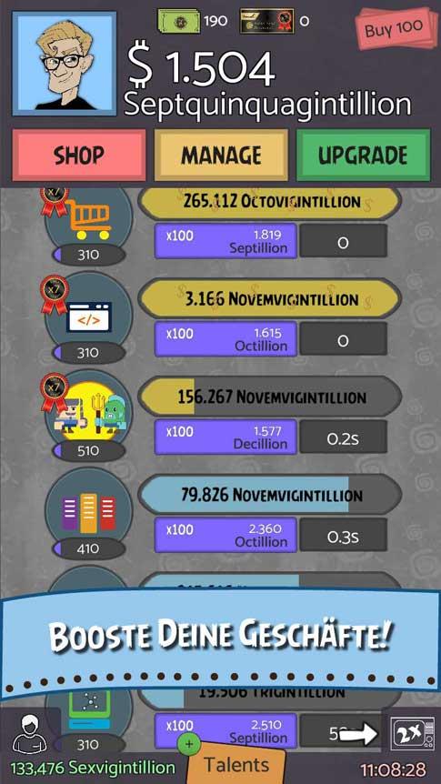 Screenshot 1 von Geeks vs Gangsters Idle Spiel
