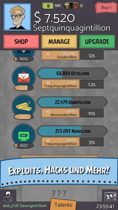 Screenshot 4 von Geeks vs Gangsters Clicker Spiel